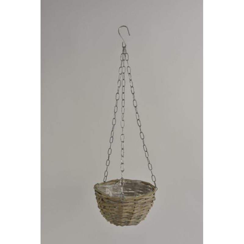 Hanging basket riet Grey wash D20 H12,5cm